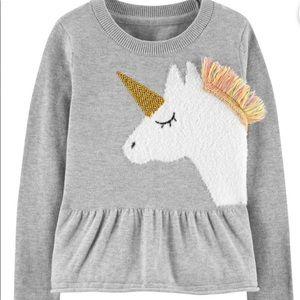 OshKosh B'gosh Carter's Kids Unicorn Sweater 4T
